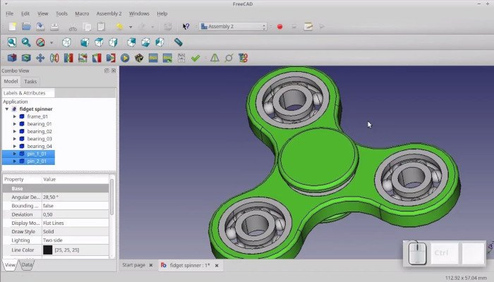 freecad free 3d software
