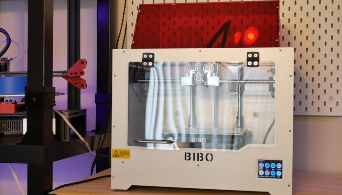 bibo 3d printer and laser engraver with dual extruder