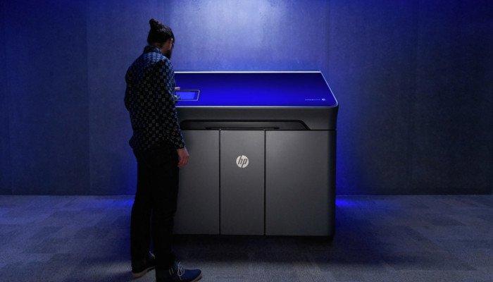 hp multi jet fusion 3d printer company