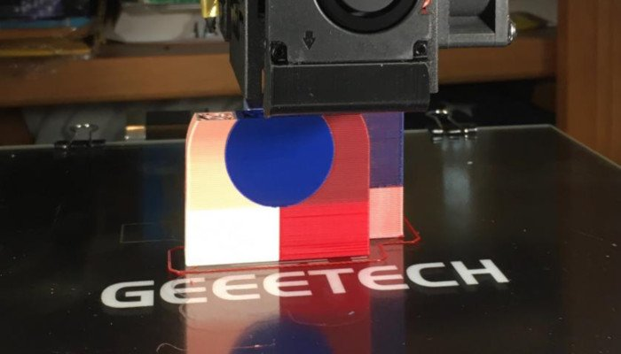 geeetech a20t color mixing 3D printing
