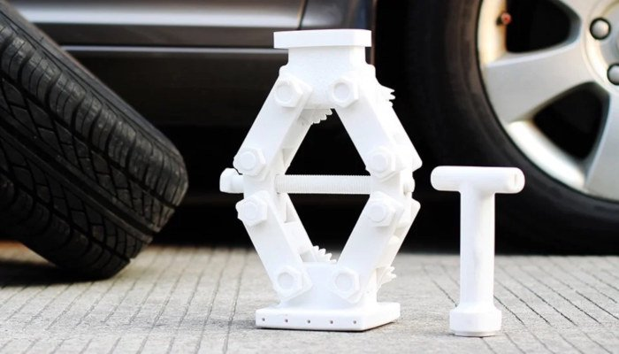 engineering part printed in pc filament polycarbonate