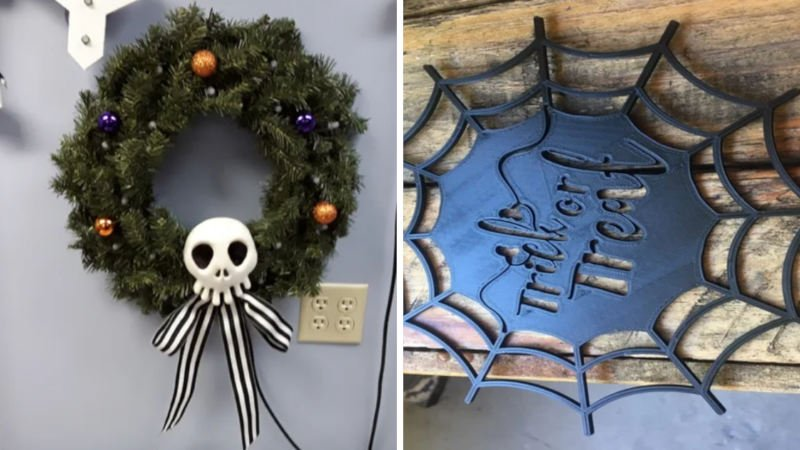 3d printed halloween wreathes