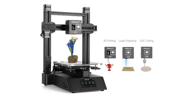creality cp-01 3 in 1 3d printer cnc cutting laser engraver