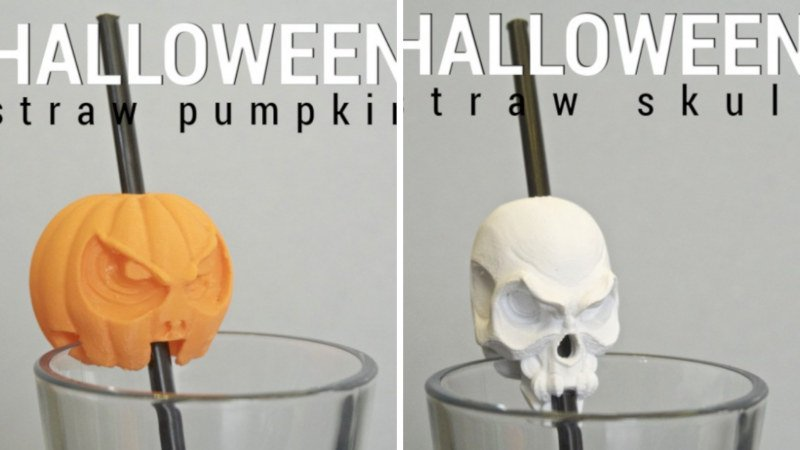 3d printed halloween straw accessories