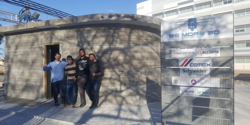 be more 3d print spain's first 3d printed house