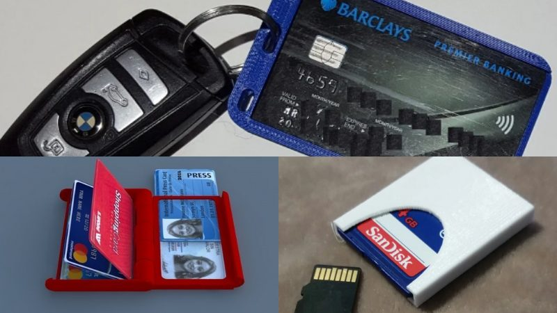 3D printed card holders, some of the most useful things to 3D print