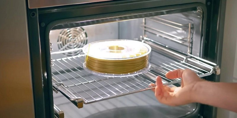 A spool of PVA filament in a microwave