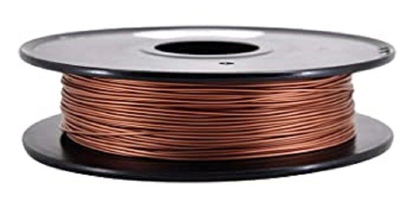 A spool of Copper and PLA metal filaments.