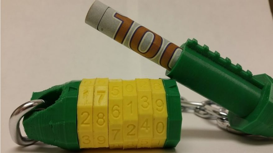3D printed combination lock project