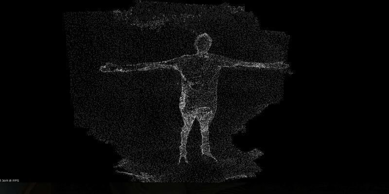 3D scanning point cloud