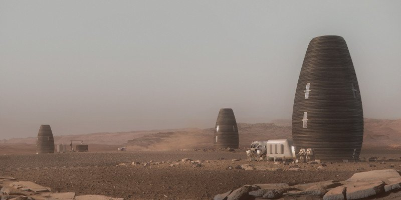 ai space factory 3d printed mars building marsha project