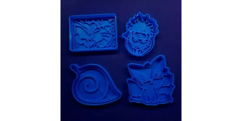 3D Printed Cookie Cutter Naruto Anime