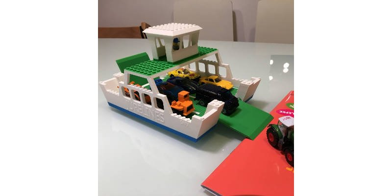 3D Printed Lego Ferry Boat