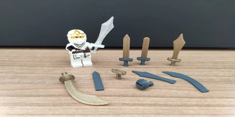 3D Printed Lego Sword Collection