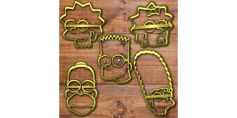 3D Printed Cookie Cutter Simpsons