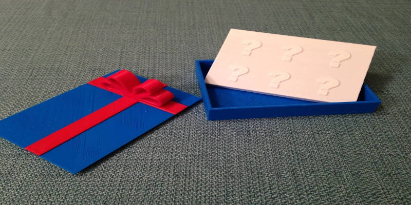 Best 3D Printed Gifts Gift Card Box