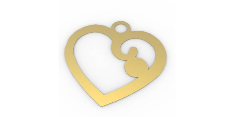 Best 3D Printed Gifts Heart Necklace