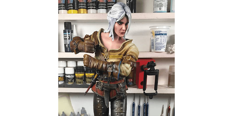 3D Printed Witcher 3 Figurine