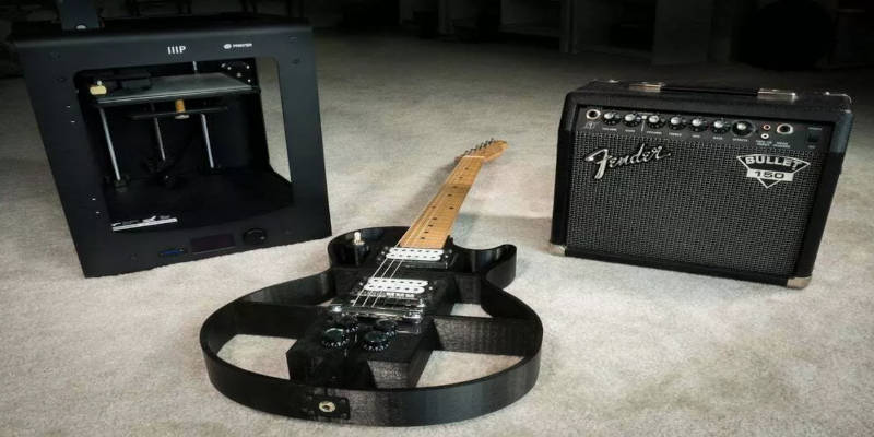 3D Printed Electric Guitar Projects