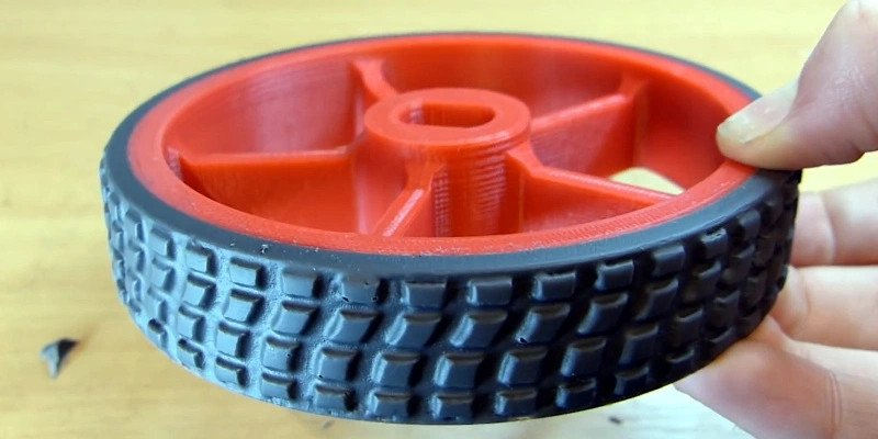 Rubber 3D printed tire