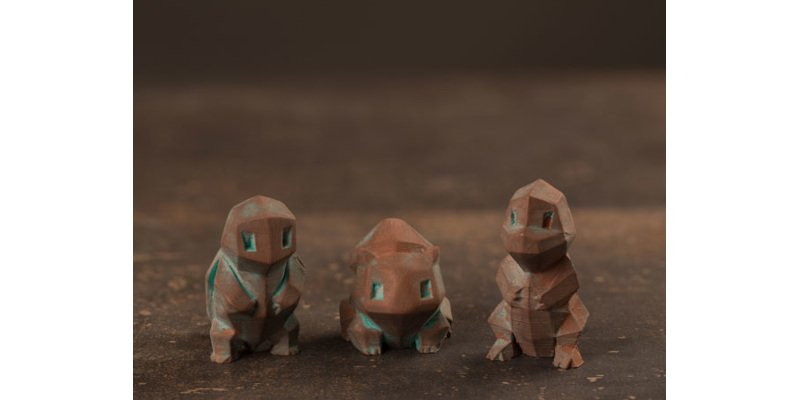 3D printed Pokémon made from metal filaments