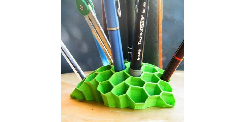 Wasp Nest 3D printed pencil holder