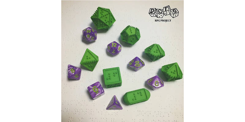 3D Printed Braille Dice