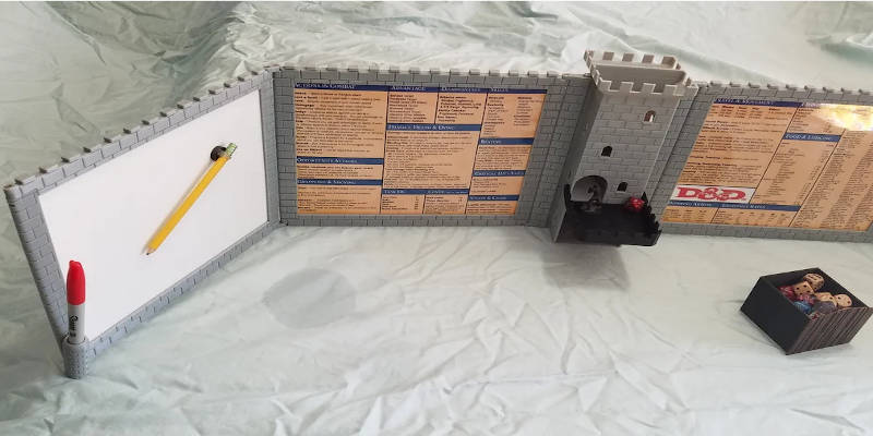 3D Printed DND Screen Dice Tower 2