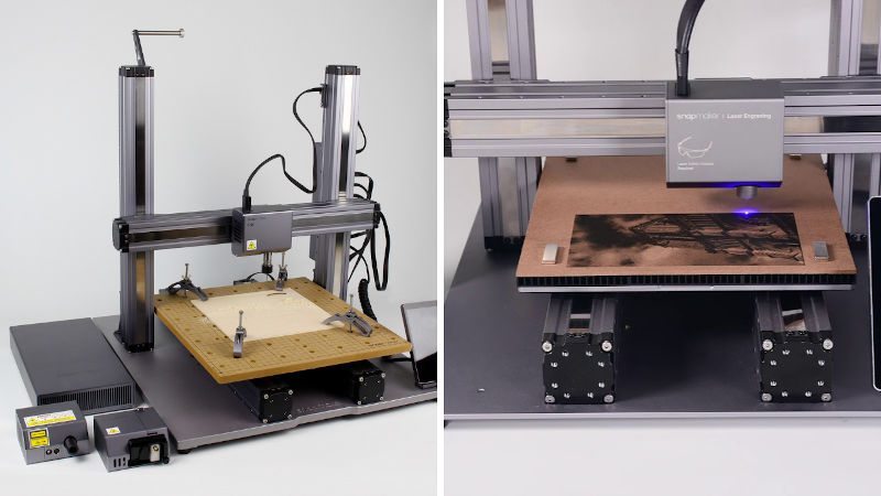 snapmaker 2.0 cnc cutting and laser engraving