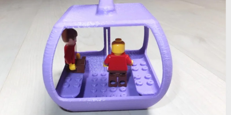 3d printed lego cable car