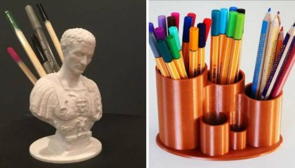 13 Cool 3D Printed Pencil Holders You Can Print Today