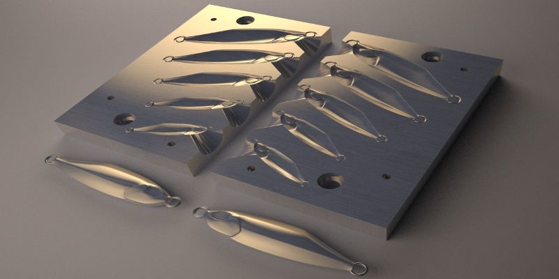 3D Printed Fishing Lure Jig Molds