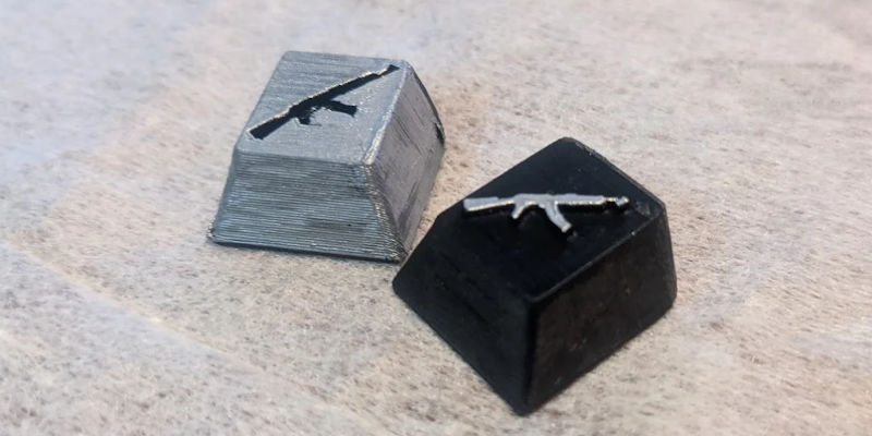 3D Printed Keycap Molds - Gun for Gamers