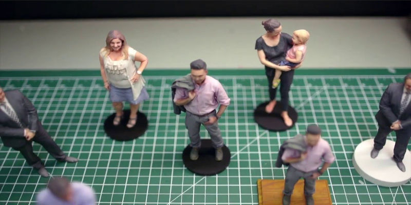 Figurines from 3D Body Scanners