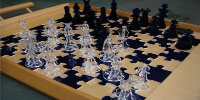 3D Printed chess set jigsaw example 1