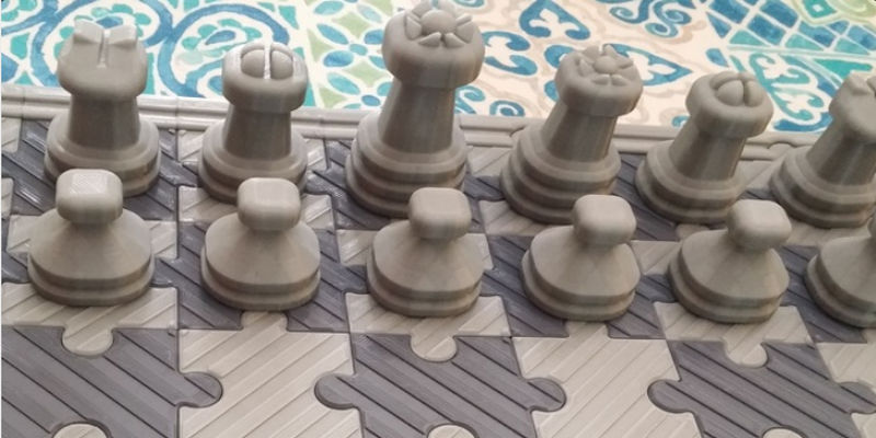 3D Printed chess set jigsaw example 2