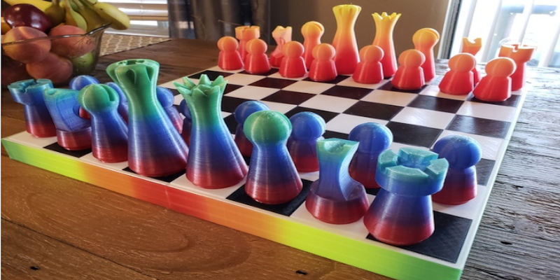 3D Printed chess set large