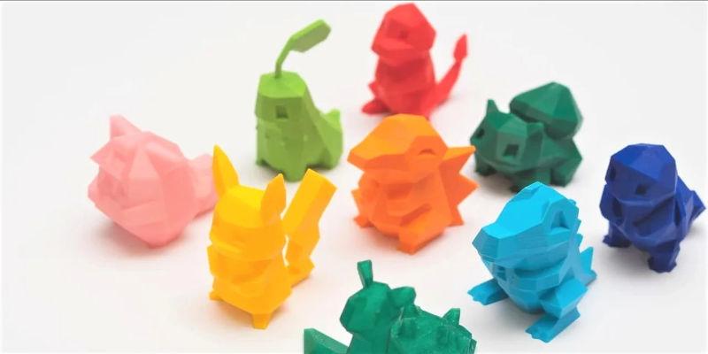 3D Print Pokémon Low Poly Example